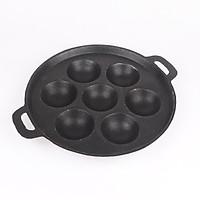 Khuôn bánh khọt chống dính kèm nắp 7 lỗ chất liệu gang cao cấp KBK01 – Gia dụng bếp