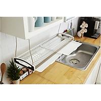 Kệ chén, kệ treo tủ bếp, kệ chén treo 1 tầng, kệ bát Inox 304 - Dual 800/900 + ống đũa nhựa