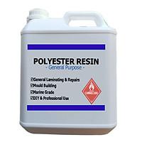 Keo Hồng Polyester Resin Dùng Đúc Tượng, Làm Khuôn, Dàn Nhựa, Độ Yên Xe, Cano, Chống Thấm - 5KG Nhựa Composite Và Đóng Rắn