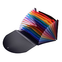 Accordion Expanding File Folder 12 Pockets Rainbow Coloured A4 Paper Filing Cabinet with Cover Receipt Organizer with