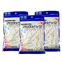Combo 3 gói tăm chỉ kẽ răng cao cấp Nhật bản gói 90 chiếc - Okamura