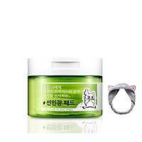 Toner Dạng Miếng Làm Dịu, Dưỡng Ẩm Da Coreana Biocos Daily Healing Pad 150ml (70 miếng) + TẶng Kèm 1 Băng Đô Tai Mèo (Màu Ngẫu Nhiên)