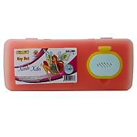 Hộp Bút Nhựa Kid Kit Xinh Xắn HB-006 - Màu Cam