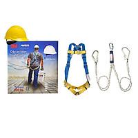Bộ dây đai an toàn toàn thân 3M 1390010, dây kết nối 3M 1390398 + tặng nón bảo hộ 3M (màu ngẫu nhiên)
