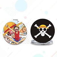 Gương One piece Đảo hải tặc anime chibi gương bỏ túi cầm tay 2 mặt dễ thương tiện lợi