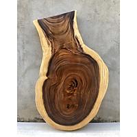 Mặt Bàn Trà, Sofa Gỗ Me Tây Nguyên Khối Dài 105 Rộng 55-63-35 dày 6.3 (cm)