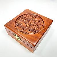 Hộp  trang sức gỗ hương trạm khắc hoa văn