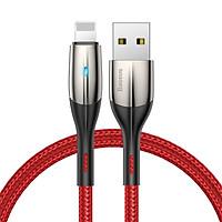 Cáp sạc  Lightning - sạc nhanh và truyền dữ liệu tốc độ cao Baseus  cho iPhone/ iPad - 2.4 A LED báo sạc dài 2M - Hàng chính hãng