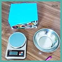 {Tặng PIN} {Tặng TÔ INOX} Cân điện tử nhà bếp mini 5kg XF03