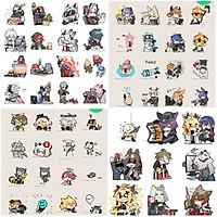 Ảnh Sticker Arknights 30-60 cái ép lụa khác nhau/hình dán anime Arknights