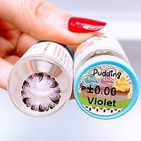 Lens mắt tím (pudding violet) thời trang giãn to sử dụng 1 năm