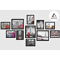 Bộ 11 khung ảnh cỡ lớn Alpha, bộ khung tranh treo tường miễn phí in ảnh - M11