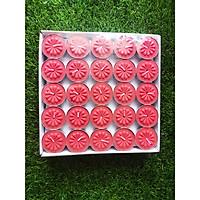 Nến tealight 100 viên màu đỏ không mùi dày 1.1cm cháy từ 2h-2h30 | Bio Aroma