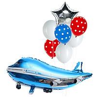 Bộ bong bóng máy bay xanh