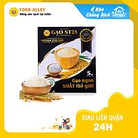 [Chỉ giao HCM] Gạo ST 25 cao cấp hộp 5kg - Gạo ST25 Đặc Sản Sóc Trăng (Gạo ST 25 Sóc Trăng ngon nhất thế giới)