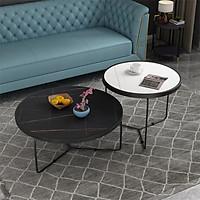 Bàn trà đôi chân sắt tĩnh điện - bàn trà đôi phòng khách (kt 80x45cm, 60x55cm)