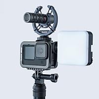 Vỏ Case Telesin GoPro 9 Hợp Kim Nhôm - Bảo Vệ GoPro 9 Chống Va Đập Gắn Thêm Được Nhiều Phụ Kiện GoPro Như Chân Máy, Đèn Flash, Micro, Nắp Pin (Hàng Chính Hãng)