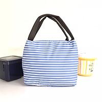 Túi giữ nhiệt đựng hợp cơm văn phòng KeepFood phong cách Nhật Bản - VN201 - Xanh sọc kẻ