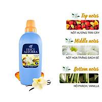 Nước xả vải hương nước hoa Ý siêu thơm lâu hổ phách và vanilla Felce Azzurra 2L