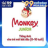 [E-VOUCHER]- Monkey Junior - Tiếng Anh cho trẻ mới bắt đầu (Trọn đời/ 1 năm/ 2 năm)