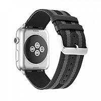 Dây da phối vải cho Apple Watch 38mm / 40mm hiệu Kakapi vân GCthời trang sang trọng - Hàng chính hãng