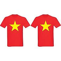 2 Áo Cổ Vũ Việt Nam Cờ Đỏ Sao Vàng