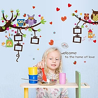 Decal dán tường cây treo khung hình cho bé SK9121