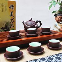 Bộ ấm trà ( bình trà) gốm tử sa Trường Thọ Bát Tràng
