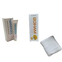 [BỘ SẢN PHẨM] Kem bôi hăm BOIHAM& Kem NANOCOOL làm sạch mùi hôi, viêm nhiễm, nấm ngứa cho phụ nữ ( Tặng kèm khăn lau trắng ) Hàng chính hãng