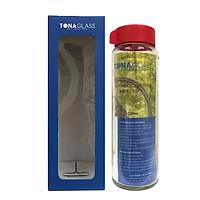 Bình nước thủy tinh Tonaglass dung tích 530ml nắp nhựa thường