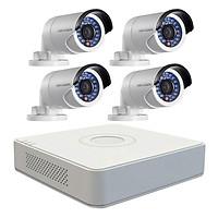 Trọn bộ 4 Camera quan sát HIKVISION TVI 1 Megapixel DS-2CE16C0T-IRP chuẩn 720HD - Hàng chính hãng