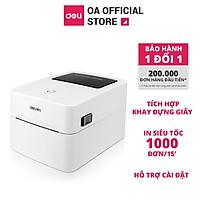 Máy in hoá nhiệt Deli DL-740CS in đơn hàng, tem mã vạch, hóa đơn, livestream, dùng giấy in nhiệt tự dán