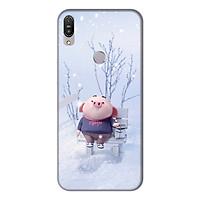 Ốp lưng điện thoại Asus Zenfone Max Pro M1 hình Heo Con Trượt Tuyết