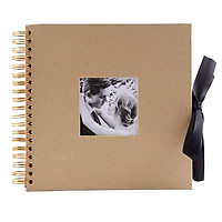 Album ảnh cưới 40 trang bìa thiết kế gáy lò xo với nơ xinh xắn