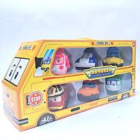 Đồ chơi trẻ em xe Bus Đội bay siêu đẳng Biến Hình Robocar Poli và những người bạn - Bộ 6 con