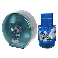 Bộ 1Hộp đựng giấy vệ sinh Pulic Lớn 26x26 Và 1 Chai Thả Bồn Cầu Mr.Fresh TI715
