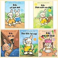 Combo 5 cuốn Chuyện Về Chú Thỏ Cool Nhất Hà Lan: Riki Gan Dạ + Riki Thăm Vườn Của Ông + Riki Có Bạn Mới + Thỏ Riki Tai Cụp + Riki Đón Sinh Nhật + Bookmark
