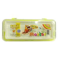Hộp Bút Nhựa HB-016 Kidkit Master - Màu Vàng