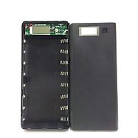 Box sạc dự phòng 2A 8 cell dùng pin 18650 (Đen,chưa pin)
