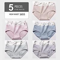 Set 5 Quần Lót Cotton Không Đường May Quyến Rũ Dành Cho Nữ