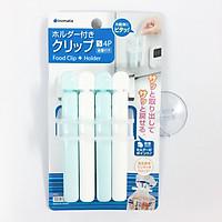 Set 4 kẹp miệng túi cỡ S giúp bảo quản thực phẩm hàng Nhật Bản
