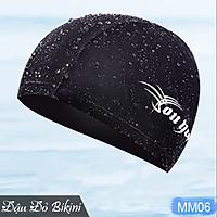 Mũ bơi nam chất vải thun co giãn, nón bơi kiểu dáng đơn giản dễ dùng | MM06