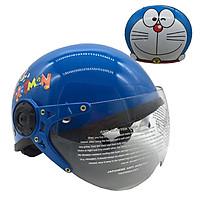 Mũ Bảo Hiểm Trẻ Em 1/2 Đầu Có Kính Chita CT27K - Team Hình Doreamon
