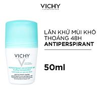 Lăn Khử Mùi Giúp Khô Thoáng Vùng Da Dưới Cánh Tay 48h Vichy Traitement Anti- Transpirant 48h (50ml)
