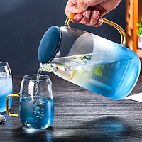 Bộ bình ly thủy tinh đại dương xanh (6 ly + 1 bình)