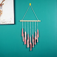 Hemp Rope Gradient Tapestry With Tassel Hand-woven Pendant Ornament For Home Decoration