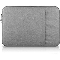 Túi chống sốc Macbook lót lông mềm cao cấp 15 inch (Ghi Xám)