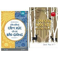 Combo Sách Kỹ Năng Sống: Cân Bằng Cảm Xúc Cả Lúc Bão Giông + Tầm Nhìn Hạn Hẹp Bắt Chẹt Tư Duy (Tặng Bookmark)