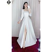 Đầm maxi dự tiệc mặc cưới xẻ đùi tay dài TRIPBLE T DRESS-Size S/M/L- MS284V