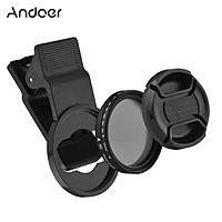Andoer 37MM Professional Clip-on Phone Filter Lens ND2-400 Adjustable Neutral Density Filter with Phone Clip Lens